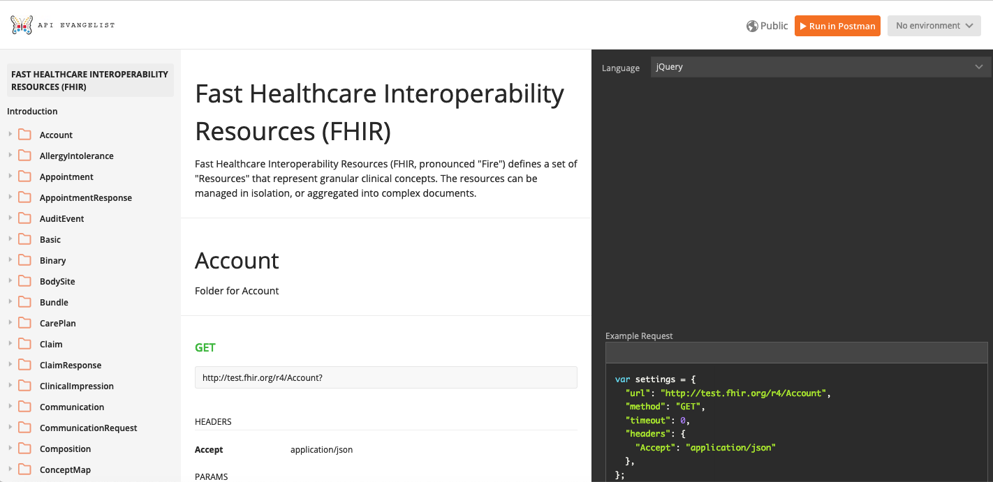 Publishing My Fhir Api Collection As Documentation And Making Available In The Postman Network